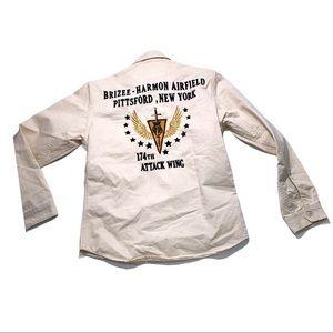 Vintage Avirex Pitsford NY 174th attack wing shirt